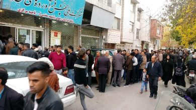 Photo of صف طولانی مقابل دفتر شرکت نفت مشهد جهت رمزگشایی کارت سوخت