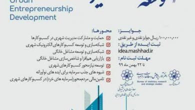 تصویر از اعلاماسامی برگزیدگان نخستین جشنواره ایده پردازی توسعه کارآفرینی شهری مشهد